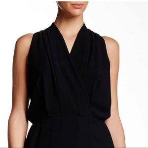 Adelyn Rae Sleeveless Solid Faux Wrap Dress
